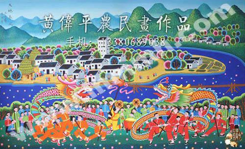 中国梦水粉画作品